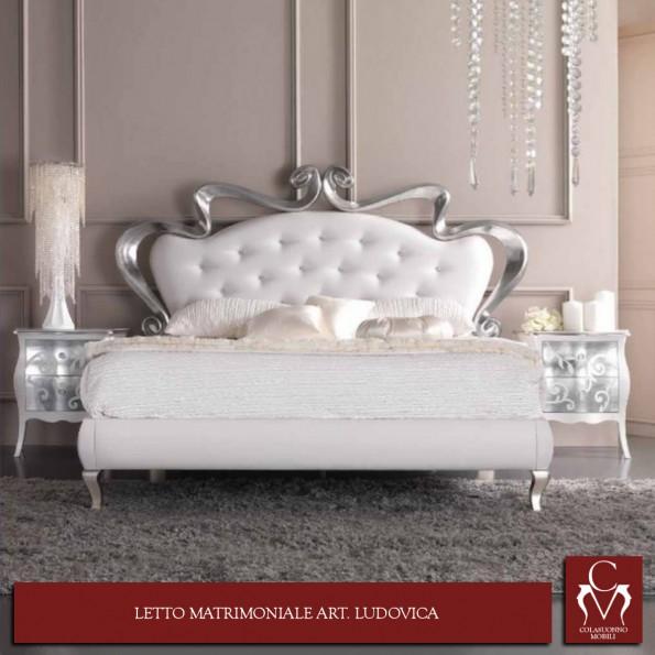 Galleria camere da letto camerette e letti letto matrimoniale art ludovica - Letto matrimoniale dimensioni ...