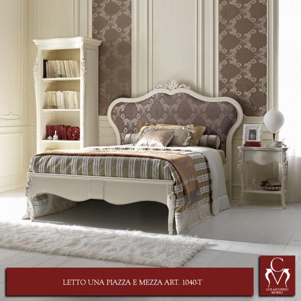 Galleria camere da letto camerette e letti letto una piazza e mezza art 1040 t - Letto una piazza e mezza dimensioni ...
