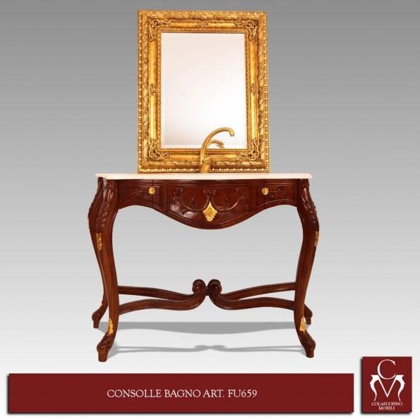 Consolle Bagno In Ceramica.Galleria Mobili Bagno Consolle Bagno Art Fu659 Con Sottolavello