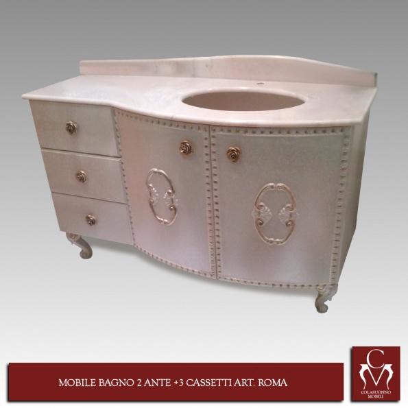 Galleria   Mobili Bagno   MOBILE BAGNO 2 ANTE + 3 CASSETTI ART. ROMA