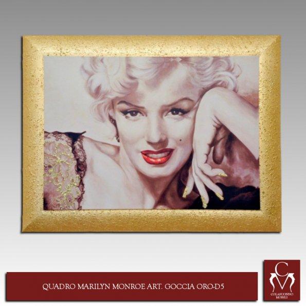 Galleria | Quadri e Cornici | QUADRO MARILYN MONROE ART. GOCCIA ORO-D5